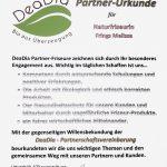 DeaDia Partner Urkunde - Naturfriseurin Melissa Frings Aachen