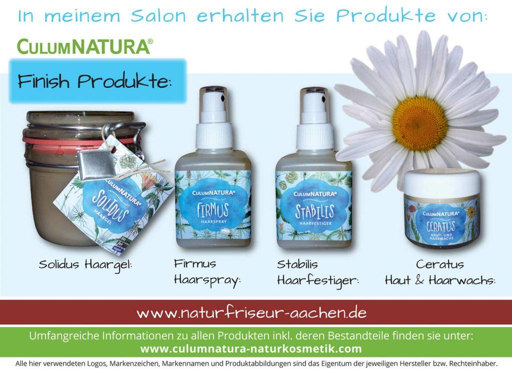CulumNatura® Solidus Haargel / Firmus Haarspray / Stabilis Haarfestiger / Ceratus Haut & Haarwachs