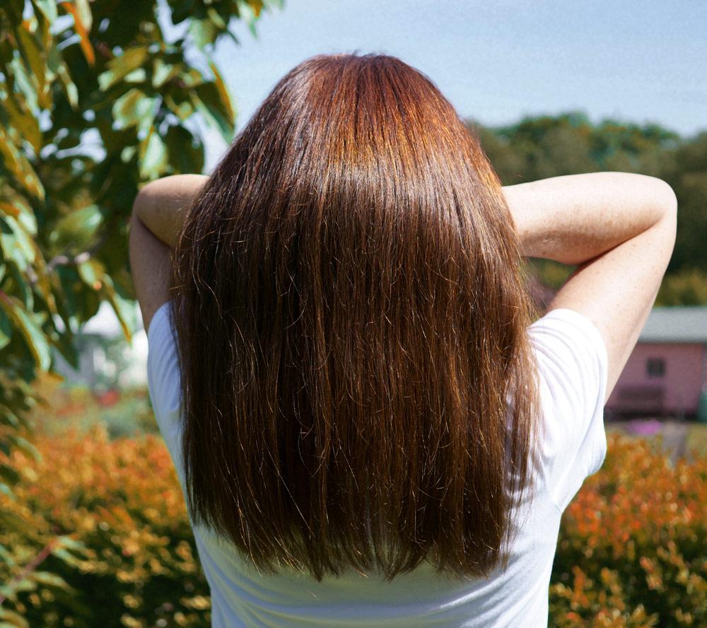 glänzendes haar, Haarkur, gesunde haare.