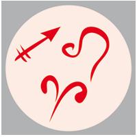 Feuerzeichen: Leo/Löwe – Feuer Sagittarius/Schütze – Feuer Aries/Widder – Feuer